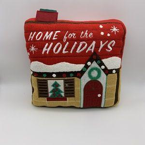 Christmas Pillow Home For The Holidays Sz: 12X11